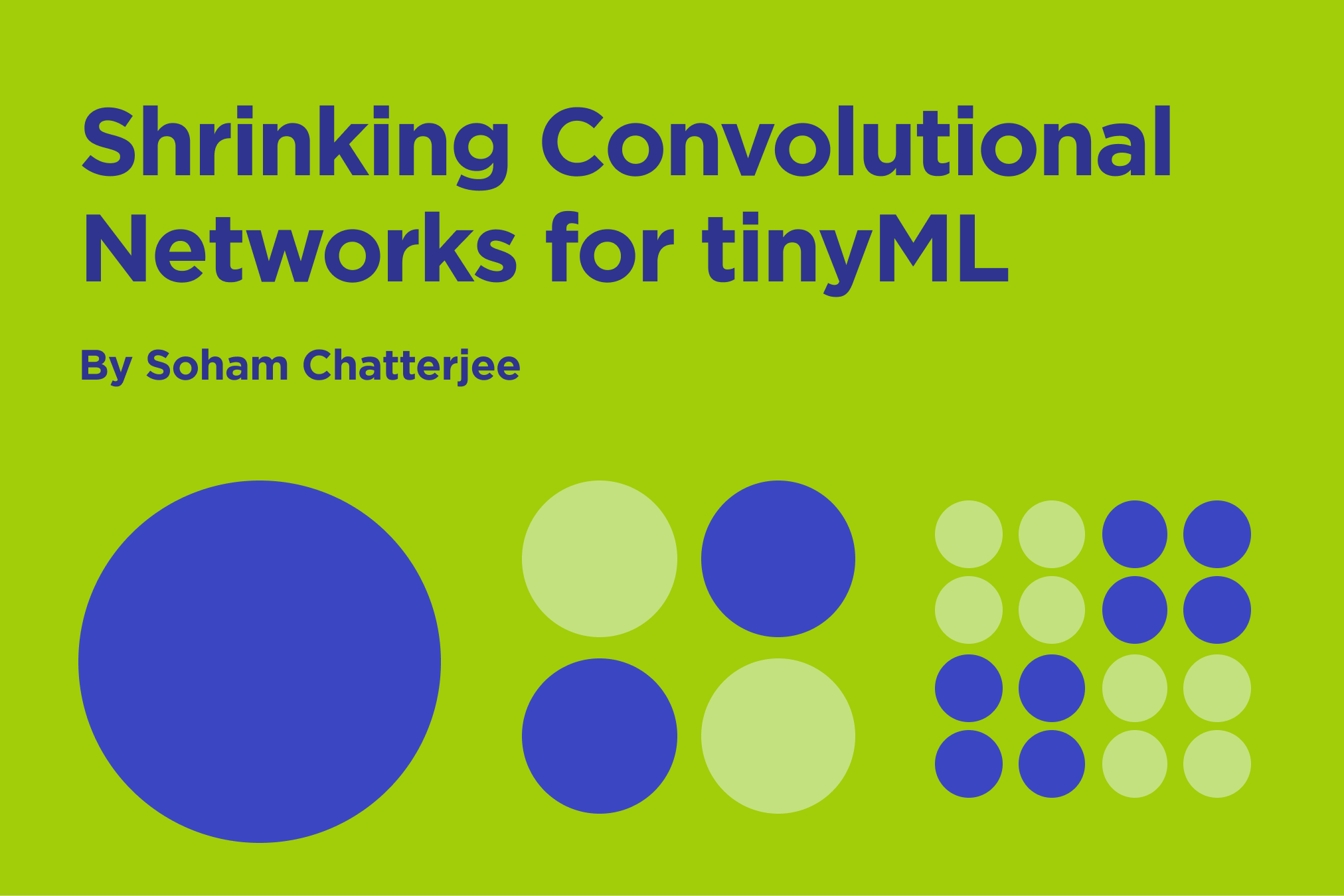 """A few days ago, Pete Warden, whose work inspired me to get into tinyML, released a blog titled """"One weird trick to shrink convolutional networks for"""